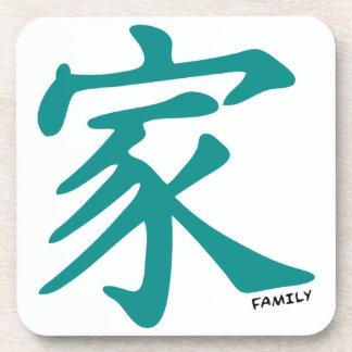 Carácter chino verde del trullo para la familia posavaso