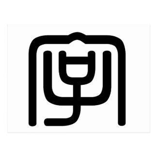 Carácter chino: zi4, significando: letra, characte postal