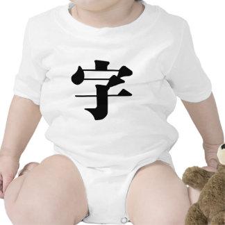 Carácter chino zi4 significando letra characte camiseta