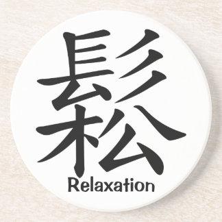 Carácter de kanji para la relajación posavasos manualidades