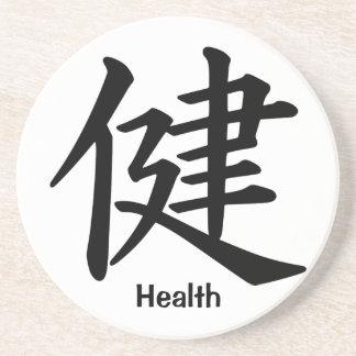 Carácter de kanji para la salud posavasos personalizados