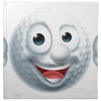 Carácter de la pelota de golf del dibujo animado servilleta de tela