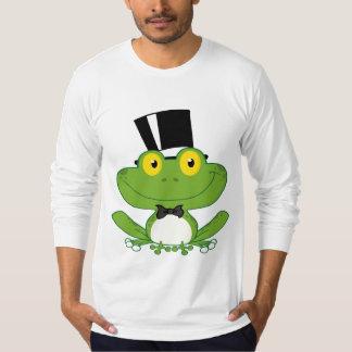 Carácter de la rana del novio del dibujo animado camiseta