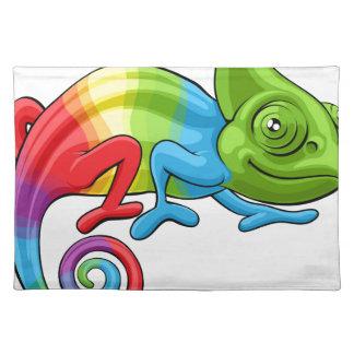 Carácter del arco iris del dibujo animado del salvamanteles