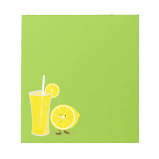 Carácter del limón que se coloca al lado de la bloc de notas