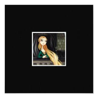 Carácter oscuro 2 del cuento de hadas - Rapunzel Invitación 13,3 Cm X 13,3cm