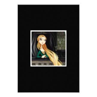 Carácter oscuro 2 del cuento de hadas - Rapunzel Invitaciones Personales