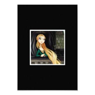 Carácter oscuro 2 del cuento de hadas - Rapunzel Invitación 8,9 X 12,7 Cm