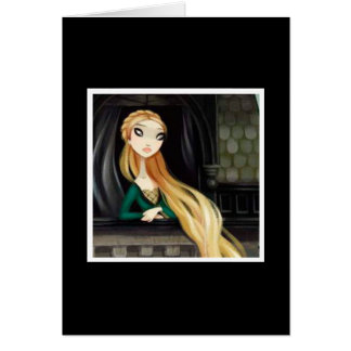 Carácter oscuro 2 del cuento de hadas - Rapunzel Tarjeton