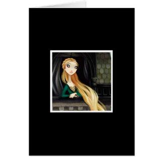 Carácter oscuro 2 del cuento de hadas - Rapunzel Tarjeta De Felicitación