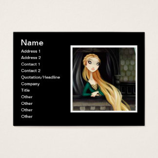 Carácter oscuro 2 del cuento de hadas - Rapunzel Tarjeta De Negocios