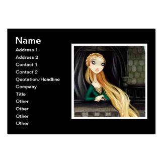 Carácter oscuro 2 del cuento de hadas - Rapunzel Tarjetas De Visita Grandes