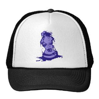Carácter púrpura de la pintura de aerosol gorra