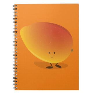 Carácter sonriente del mango cuaderno