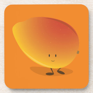 Carácter sonriente del mango posavasos