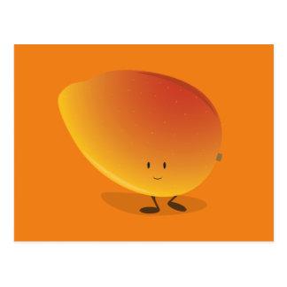 Carácter sonriente del mango postal