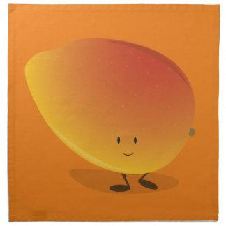 Carácter sonriente del mango servilleta imprimida