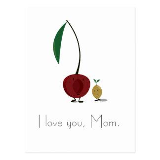 Caracteres de la cereza del día de madre y del postal