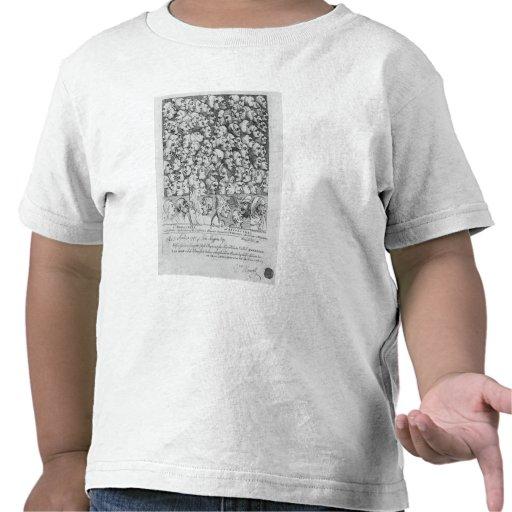 Caracteres y caricaturas camiseta