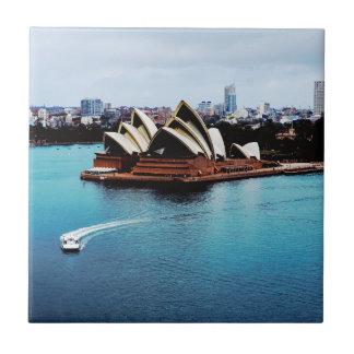 Característica del teatro de la ópera de Sydney Azulejo Cuadrado Pequeño