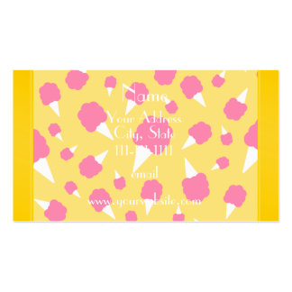 Caramelo de algodón amarillo conocido tarjetas de visita