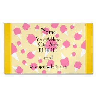 Caramelo de algodón amarillo conocido tarjetas de visita magnéticas (paquete de 25)