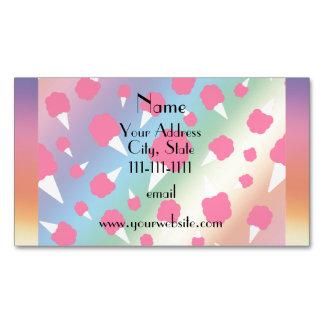 Caramelo de algodón conocido personalizado del tarjetas de visita magnéticas (paquete de 25)