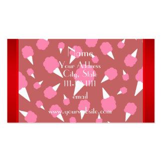 Caramelo de algodón rojo conocido personalizado tarjetas de visita