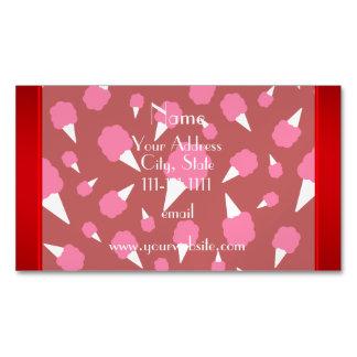 Caramelo de algodón rojo conocido personalizado tarjetas de visita magnéticas (paquete de 25)