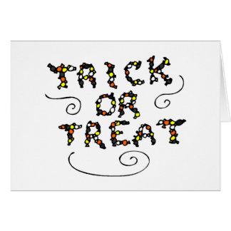 Caramelo de Halloween del truco o de la invitación Tarjetón