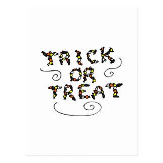 Caramelo de Halloween del truco o de la invitación Postal