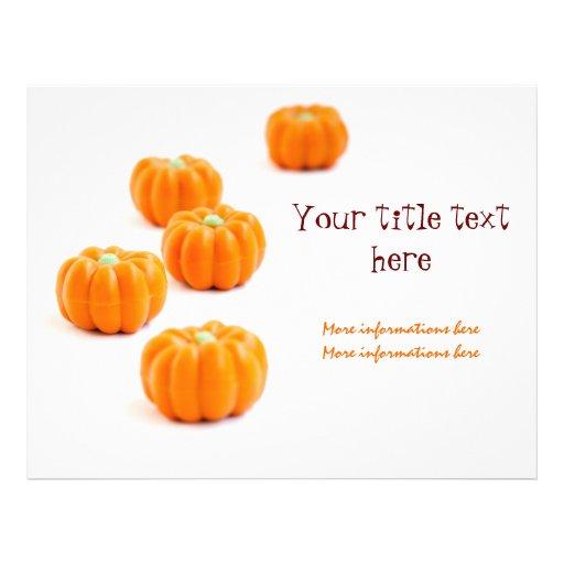 Caramelo de la calabaza de Halloween Tarjetas Informativas