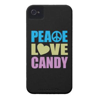 Caramelo del amor de la paz Case-Mate iPhone 4 coberturas