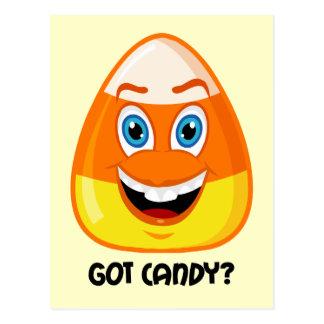 Caramelo divertido y lindo Halloween Postal