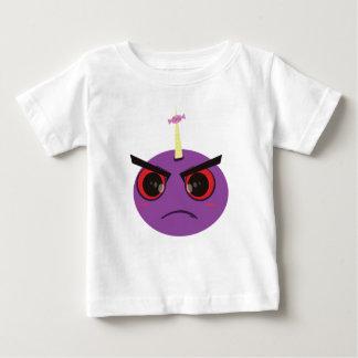 Caramelo enojado de la cara camiseta para bebé