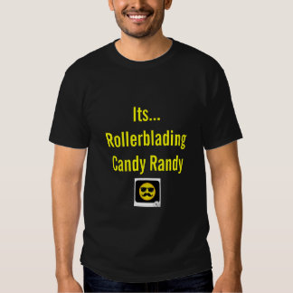 Caramelo Randy de Rollerblading Camisetas