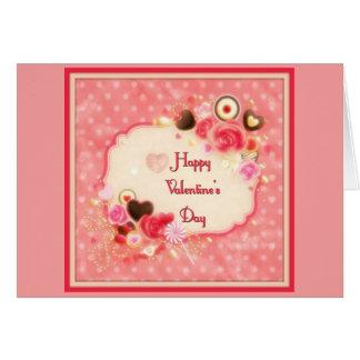 Caramelo y tarjeta del día de San Valentín de los