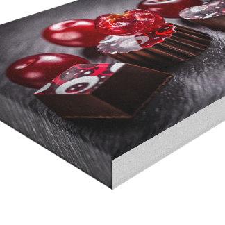 Caramelos de chocolate de la trufa impresión en lienzo