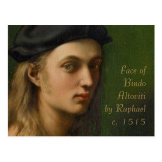 Caras adorables de Raphael CC0212 Postal