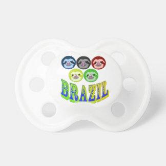 caras de la pereza para los juegos brasileños chupete de bebe