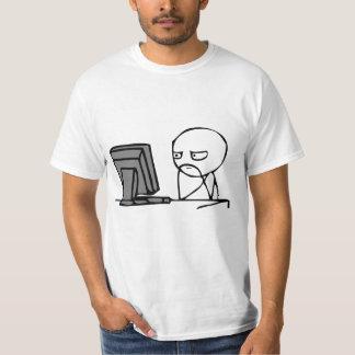 Caras de la reacción del ordenador camiseta