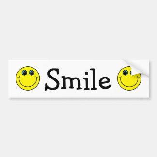 Caras sonrientes amarillas pegatina para coche