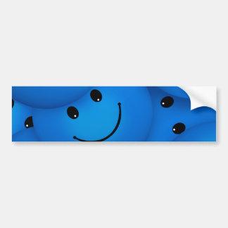 Caras sonrientes azules felices frescas de la pegatina para coche