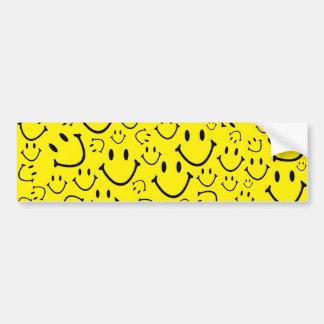 Caras sonrientes felices etiqueta de parachoque
