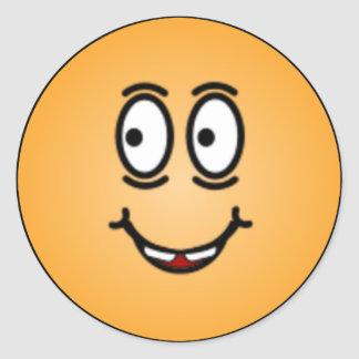 Caras sonrientes tontas de lujo etiquetas redondas