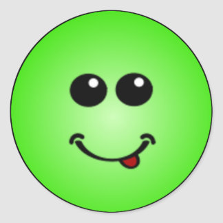 Caras sonrientes tontas de lujo pegatina
