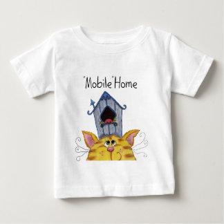 Caravana de la casa del gato y del pájaro camiseta