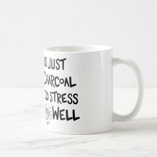 carbón de leña al diamante taza de café