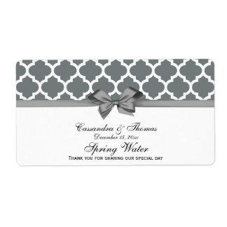 Carbón de leña, etiqueta gris marroquí blanca del etiqueta de envío