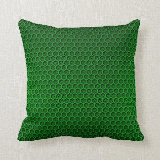 Carbono verde de neón metálico Fibe del panal del Cojín Decorativo